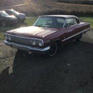 Red 409 63 impala